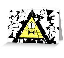 Bill cipher triangles Greeting Card