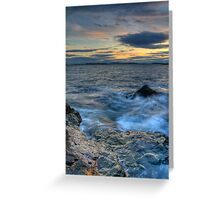 Boston Sunset from Nahant Greeting Card