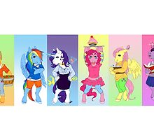 The Mane six by aunumwolf42