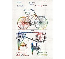 Colorful Bike Art - Vintage Patent - By Sharon Cummings Photographic Print