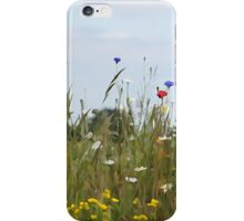 Illustrated summer meadow iPhone Case/Skin