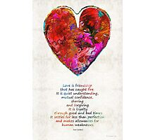 Red Heart Art - Love Is - By Sharon Cummings Photographic Print
