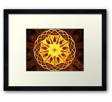 Yellow Matrix Framed Print