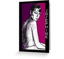 Josephine Baker Portrait in plum pink Greeting Card