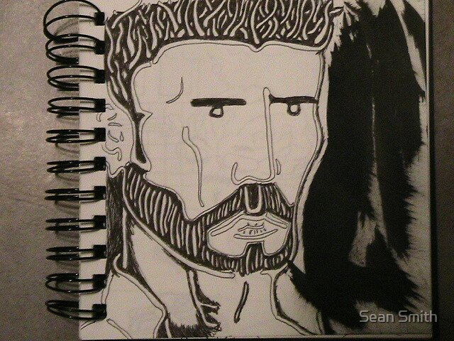 Self Portrait (Seriousness) by Sean Smith