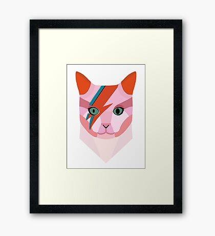 Bowie Cat Framed Print