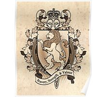Lion Coat Of Arms Heraldry Poster