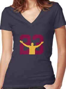No. 23 (alternate colors) Women's Fitted V-Neck T-Shirt