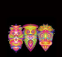tribal masks by designsalive
