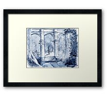 around the clock- Midnight moon Framed Print