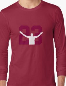 No. 23 (wine and gold) Long Sleeve T-Shirt