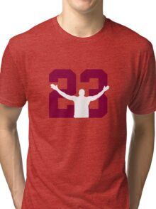 No. 23 (wine and gold) Tri-blend T-Shirt