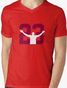 No. 23 (wine and gold) Mens V-Neck T-Shirt