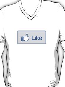 Like Button V-Neck T-Shirt