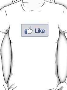 Like Button Womens T-Shirt T-Shirt