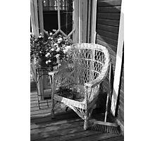 White Chair Photographic Print