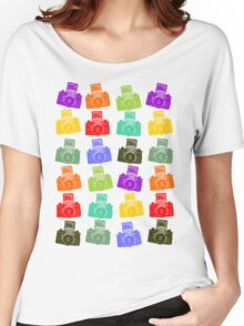 Colorful Cameras Women's Relaxed Fit T-Shirt