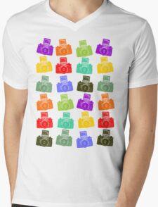 Colorful Cameras Mens V-Neck T-Shirt