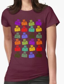 Colorful Cameras Womens Fitted T-Shirt