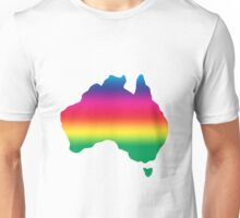 Map of Australia coloured with rainbow Unisex T-Shirt