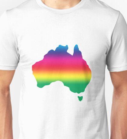 Map of Australia coloured with rainbow Unisex T-Shirt