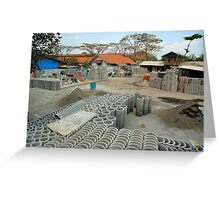 concrete factory Greeting Card