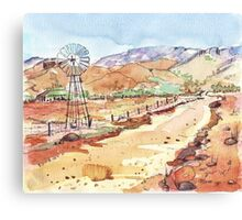 Windpomp in the Karoo Canvas Print