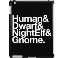 Vanilla Races : Alliance (Classic) - WoW goes Helvetica iPad Case/Skin