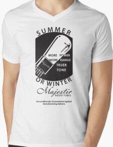 vintage radio tubes ad Mens V-Neck T-Shirt