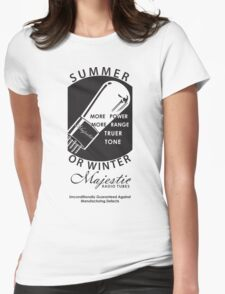 vintage radio tubes ad Womens Fitted T-Shirt
