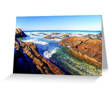Saltwater Rocks Greeting Card