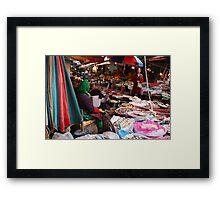 Korean Marketplace  Framed Print