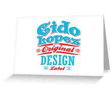 Graphic Art Original Design  Greeting Card