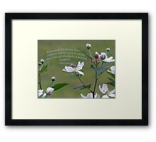 William Shakespeare saying Greeting Card Framed Print