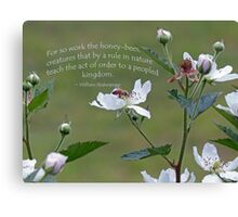 William Shakespeare saying Greeting Card Canvas Print