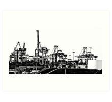 Port Botany cranes Art Print