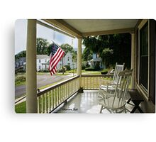 Small Town USA ~ Fourth of July Canvas Print