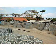 concrete factory Photographic Print