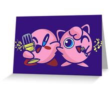 A Dangerous Duet (Dark Shirt / Purple Version) Greeting Card