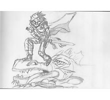 Manga Dragon Slayer Photographic Print