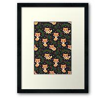 The Fox Pattern Framed Print