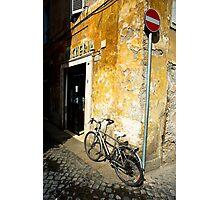 Bike In Piazza Margana Photographic Print