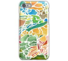Parakeets Stain Glass iPhone Case/Skin