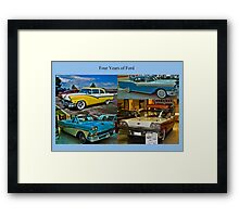 Four Years of Ford Framed Print