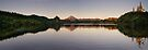 Sunrise - Lake Mangamahoe Panorama by Dean Mullin