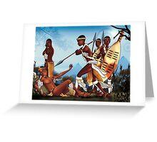 African warrior battle Greeting Card