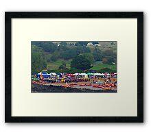Racing at Penguin (47) Framed Print