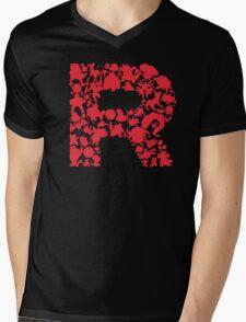 Rocketmon Mens V-Neck T-Shirt