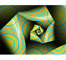 Folding and Pleating A Paper Spiral II Photographic Print