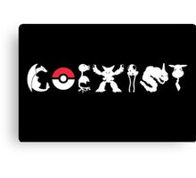 COEXIST 151 (for darker tees 2.0) Canvas Print